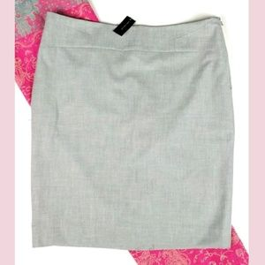 NWT The Limited gray pencil skirt 14 Tall